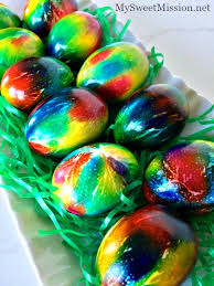 easter egg dyes how to tie dye easter eggs my sweet mission