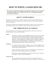 Best Undergrad Resume by A Good Job Resume Objective How To Write Line Splixioo