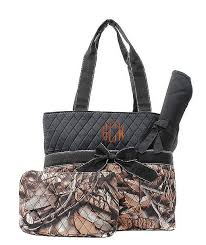 monogram camo quilted bag personalized