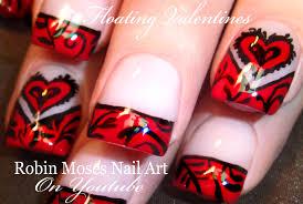 easy valentine nail art floating hearts u0026 filigree design for