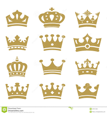 crown collection vector silhouette royalty free stock image