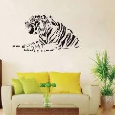 online get cheap tiger vinyl wall decals aliexpress com alibaba lying tiger wall stickers home decor living room 42x76cm custom color vinyl wall decals quotes 3d