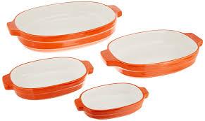 kitchen aid ceramic 4 piece nesting casserole set ebay