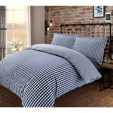 gingham check yarn dyed 100 cotton t200 duvet cover pillowcases