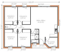 plan 4 chambres plain pied plan maison plain pied 4 chambres gratuit plans de maisons maison