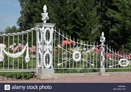 ornamental wrought iron fence stock photos ornamental wrought iron