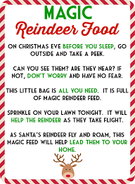 food recipes on reindeer food poem magic reindeer food and