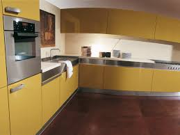 kitchens with yellow cabinets kitchen yellow cabinets in the kitchen with an oven and a gas