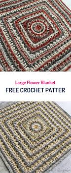 free crochet patterns for home decor large flower blanket free crochet pattern crochet yarn crafts