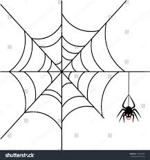 scary halloween white background scary spider over white background stock vector 108565469