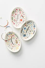 monogrammed dishes monogrammed meadow trinket dish anthropologie