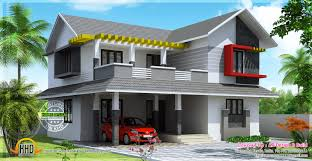 sloped roof home designs hoe plans latest house roofing mix