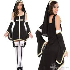 White Halloween Costume Exported Europe Fun Nuns Dress Suit Halloween Carnival