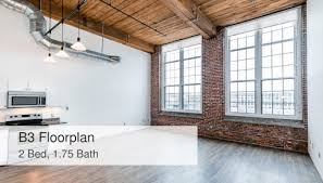 what is 1 75 bath b3 floorplan 2 bed 1 75 bath the riverwalk lofts apartments