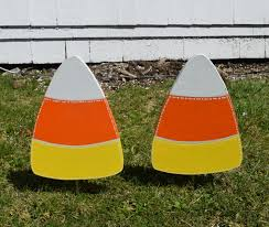 1 classic candy corn yard stake halloween outdoor yard
