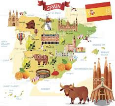 Map Of Spain by Cartoon Map Of Spain Stock Vector Art 493375925 Istock