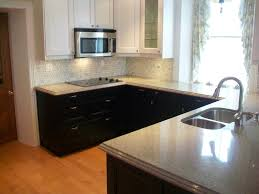 Two Tone Kitchen Cabinets Kitchen Black Gas Stove Under Silver Shelf Near Hoods Between Two