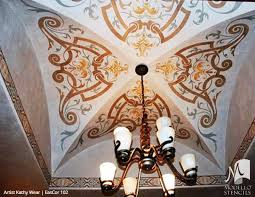 Stencils For Home Decor Corner Stencils For Custom Painted Floor Walls Ceiling U2013 Modello
