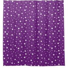 White And Purple Curtains Purple Star Shower Curtains Zazzle