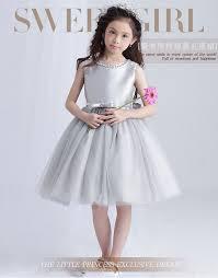 silver dresses for wedding aliexpress buy sweet summer dress silver tulle flower