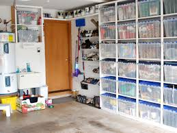 Garage Shoe Organization Ideas - ample storage in the garage i love the shelving and the plastic