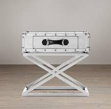 X Base Side Table Atlantic Steamer Trunk X Base Side Table