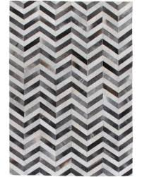 Rugs Chevron Bargains On Exquisite Rugs Chevron Hide Grey White Leather Hair