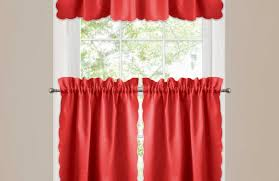 Swag Kitchen Curtains Curtains Dramatic Red Swag Kitchen Curtains Unusual Short Red