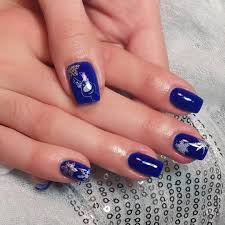 35 royal blue nail designs experience the glamorous style of