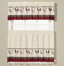 Kitchen Tier Curtains French Country Rooster Kitchen Tier Curtain Or Valance