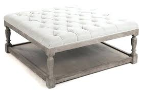 ottoman pvc leather storage tufted ottoman with arm upholstered