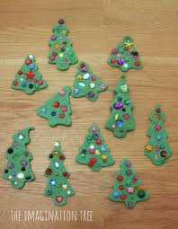 invitation to decorate play dough christmas trees the