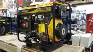 kipor kde 6500 diesel generator review youtube