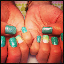 young nails mani q green 101 is the prettiest most awesome shade