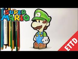draw luigi super mario bros easy draw