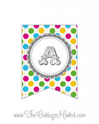 Welcome Home Banners Printable by Free Printable Whole Alphabet Primary Party Polka Dot Banner