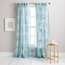 Living Room Curtains Bed Bath And Beyond Dkny Modern Botanical Window Curtain Panel In Aqua