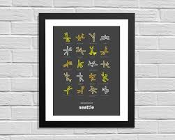 Map Of Greenlake Seattle by Intersections Of Seattle Minimalist Map Print