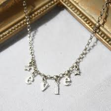 childrens name necklace children s harry rocks