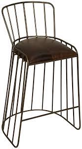furniture black metal bar stool with backrest and footrest having