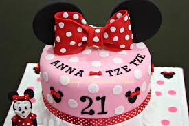 sheny u0027s homemade treats minnie mouse themed 21st birthday cake