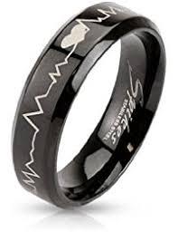black stainless steel wedding rings stainless steel wedding bands wedding engagement