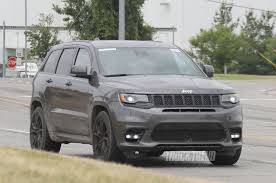 trackhawk jeep black spied jeep grand cherokee trackhawk totally undisguised photo