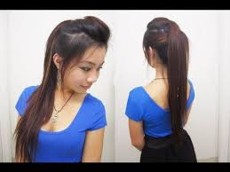 college hairstyles in rebonded hai cute ponytail hairstyles for medium long hair l chic edgy ponytail