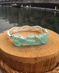 glass bracelet images Sea foam sea glass bracelet lisa marie 39 s made in maine jpg