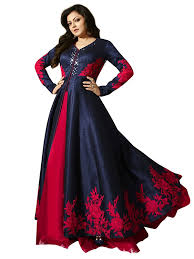party wear gowns royal export women s bangalori silk party wear gown in