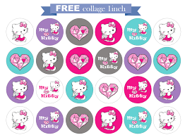 Hello Kitty Invitation Card Maker Free Free Printable Invitation Hello Kitty Free Round 1 Inch