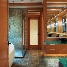 geos recycled glass countertops bathroom eclectic with vessel sink