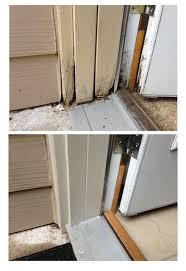 Wooden Exterior Door Threshold Exterior Door Threshold Repaired Door Jam Trim Threshold And