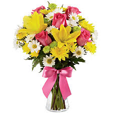 cheap flowers to send yellow lilies bouquet at send flowers